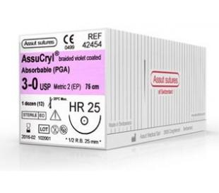 Sutura Assucryl Dorso tagliente 1/2 HSR-18